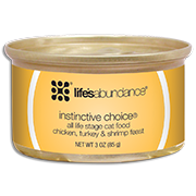 Instinctive Choice holistic premium wet cat food in a can
