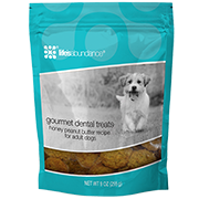 Gourmet Dental Treats for Dogs (Honey and Peanut Butter recipe) from Life's Abundance in USA.
