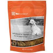 Wholesome Hearts Low-Fat Treats for Dogs (Fruits, Vegetables and Spices) from Life's Abundance in USA.