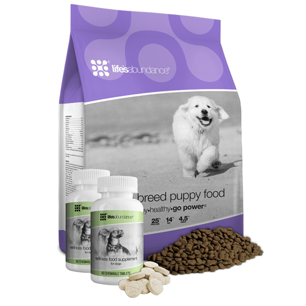 Large Breed Puppy Food and Wellness Food Supplements