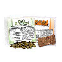 Life's Abundance Dry Dog Food Sample Pack. Includes our All Life Stage Food for Dogs PLUS one Antioxidant Health Bar.  Also available: Weight-Loss Food for Adult Dogs PLUS one Wholesome Hearts Low-Fat Dog Treat.