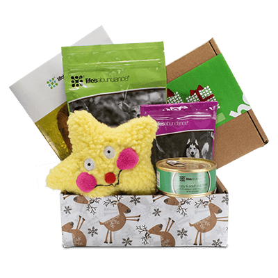 Holiday Gift Basket for Dogs from Life's Abundance in USA.