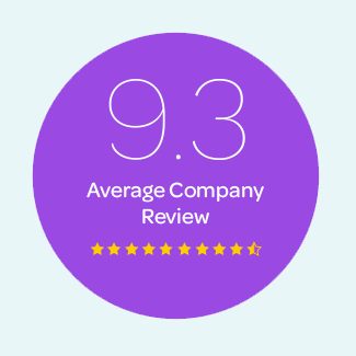 9.3 Average Company Review