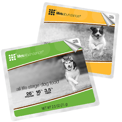 All stage dog food sample with antioxidant health bar