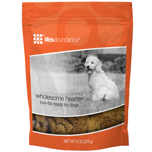 Life's Abundance Wholesome Hearts Low-Fat Treats for Dogs